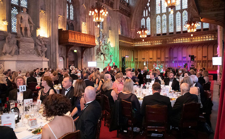 The Master, Graham Baker welcomes guests to the 2019 Charity Dinner at the Guildhall.