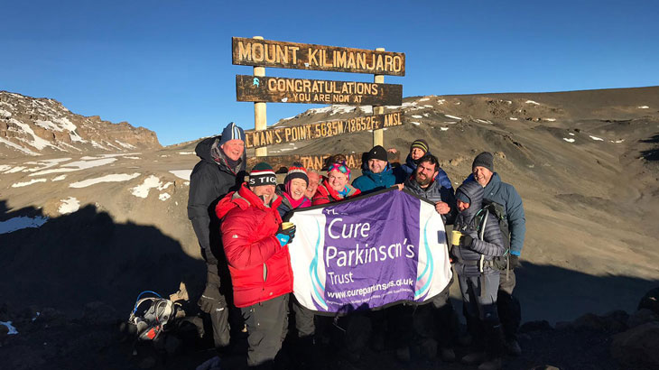 At the summit of Mt Kilimanjaro, a fantastic effort to raise funds